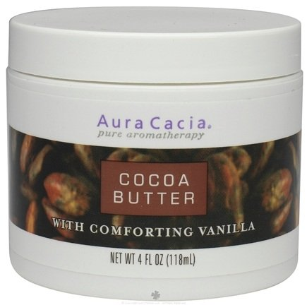 DROPPED: Aura Cacia - Aromatherapy Body Butters Cocoa - 4 oz.