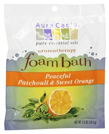 Aura Cacia - Aromatherapy Foam Bath Patchouli & Orange - 2.5 oz.