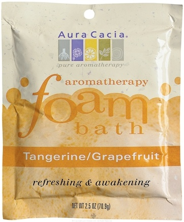 DROPPED: Aura Cacia - Aromatherapy Foam Bath Tangerine & Grapefruit - 2.5 oz. CLEARANCE PRICED