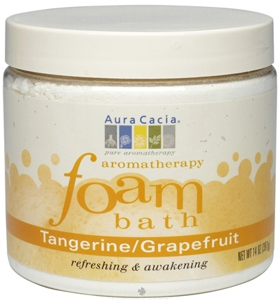 DROPPED: Aura Cacia - Aromatherapy Foam Bath Tangerine & Grapefruit - 14 oz. CLEARANCE PRICED