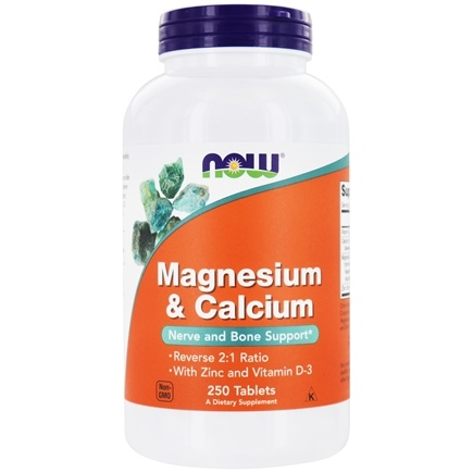 NOW Foods - Magnesium & Calcium 2:1 Ratio - 250 Tablets