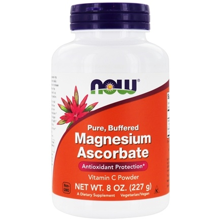 DROPPED: NOW Foods - Magnesium Ascorbate Powder - 8 oz.