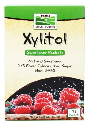 NOW Foods - Xylitol Sweetener Packets - 75 Packet(s)