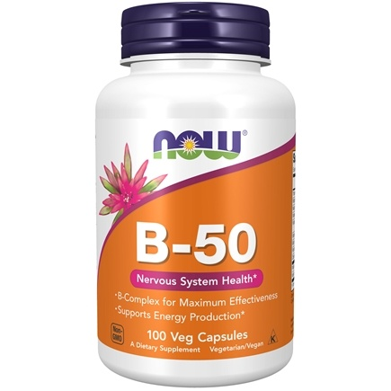 NOW Foods - Vitamin B-50 - 100 Capsules