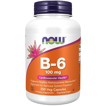 NOW Foods - Vitamin B-6 100 mg. - 250 Capsules