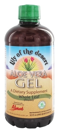 Lily Of The Desert - Aloe Vera Gel Organic Whole Leaf - 32 oz.