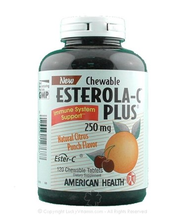 DROPPED: American Health - Chewable Esterola-C Plus - 120 TABLETS