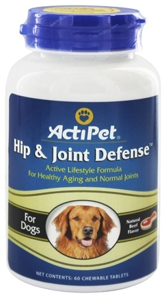 DROPPED: ActiPet - Hip & Joint Defense For Dogs Natural Beef Flavor - 60 Chewable Tablets