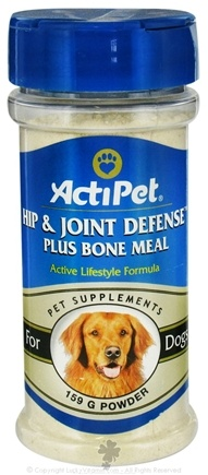 DROPPED: ActiPet - Hip & Joint Defense Plus Bone Meal For Dogs - 159 Grams