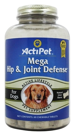 ActiPet - Mega Hip & Joint Defense For Dogs - 60 Chewable Tablets