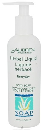 DROPPED: Aubrey Organics - Herbal Liquid Everyday Body Soap - 8 oz. CLEARANCE PRICED