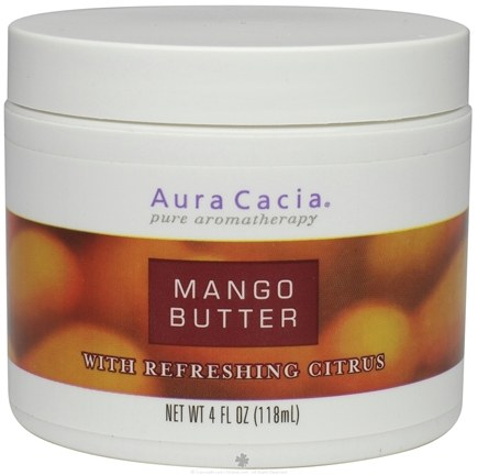 DROPPED: Aura Cacia - Aromatherapy Body Butters Mango with Refreshing Citrus - 4 oz. CLEARANCE PRICED