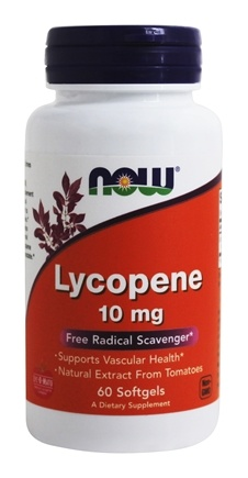 NOW Foods - Lycopene 10 mg. - 60 Softgels