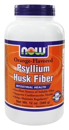 DROPPED: NOW Foods - Psyllium Husk Fiber Orange Flavored - 12 oz.