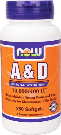 DROPPED: NOW Foods - Vitamin A & D - 250 Softgels
