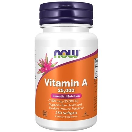 NOW Foods - Vitamin A Fish Liver Oil - 250 Softgels