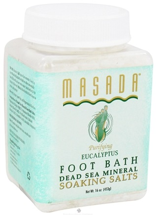 DROPPED: Masada - Natural Mineral Foot Soak Eucalyptus - 1 lb.