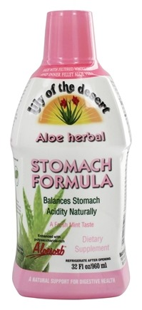 Zoom View - Organic Aloe Vera Gel Herbal Stomach Formula