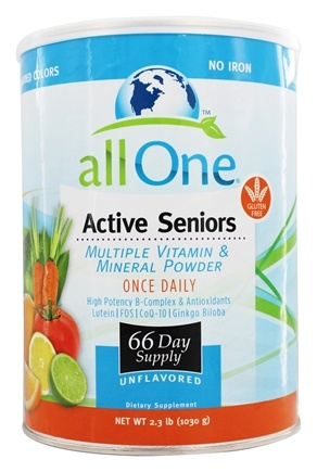 All One - Active Seniors Multiple Vitamin and Mineral Powder - 2.2 lbs.