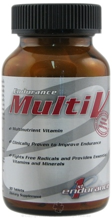 DROPPED: 1st Endurance - Multi-V Multinutrient Vitamin - 90 Tablets CLEARANCE PRICED