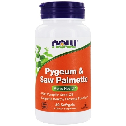 DROPPED: NOW Foods - Pygeum & Saw Palmett0 Extract 25/80 mg. - 60 Softgels