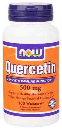 DROPPED: NOW Foods - Quercetin 500 mg. - 100 Vegetarian Capsules