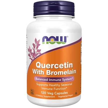 NOW Foods - Quercetin With Bromelain - 120 Vegetarian Capsules