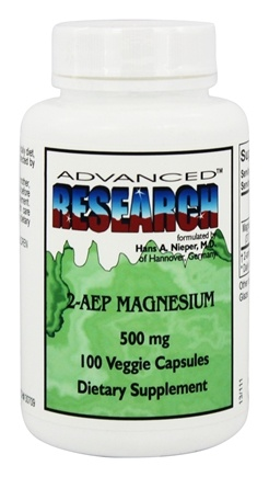 Advanced Research - 2-AEP Magnesium 500 mg. - 100 Vegetarian Capsules