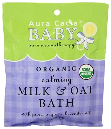 Aura Cacia - Baby Calming Milk & Oat Bath - 1.75 oz.