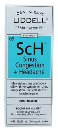 Zoom View - SCh Sinus Congestion + Headache with Echinacea Homeopathic Oral Spray