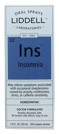 Liddell Laboratories - Insomnia Homeopathic Oral Spray - 1 oz.