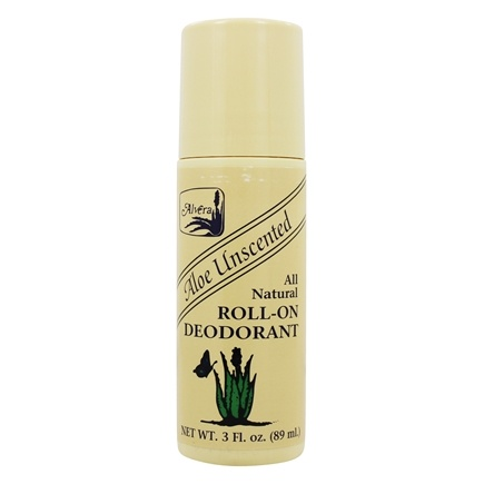 Alvera - All Natural Roll-On Deodorant Aloe Unscented Unscented - 3 oz.