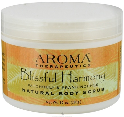 DROPPED: Abra Therapeutics - Aroma Therapeutics Natural Body Scrub Blissful Harmony Patchouly and Frankincense - 10 Oz. CLEARANCE PRICED
