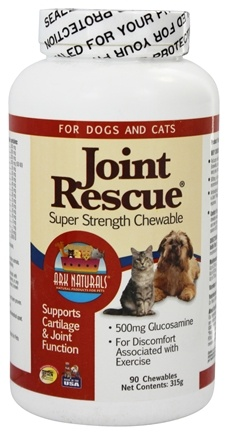 Ark Naturals - Joint Rescue Super Strength For Dogs & Cats - 90 Chewable Wafers