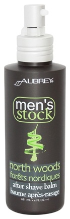 Aubrey Organics - Men's Stock North Woods After Shave Balm Pine - 4 oz.