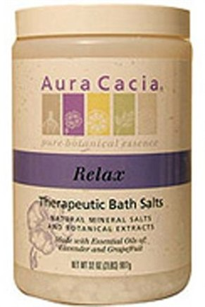 DROPPED: Aura Cacia - Therapeutic Bath Salts Relax Lavender & Grapefruit - 32 oz.