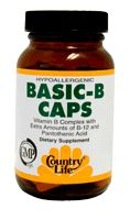 DROPPED: Country Life - Basic B Caps B Complex 25 mg. - 60 Capsules