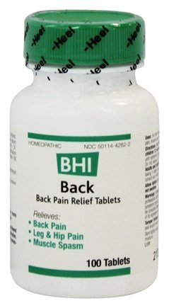 BHI/Heel - Back Pain Relief - 100 Tablets