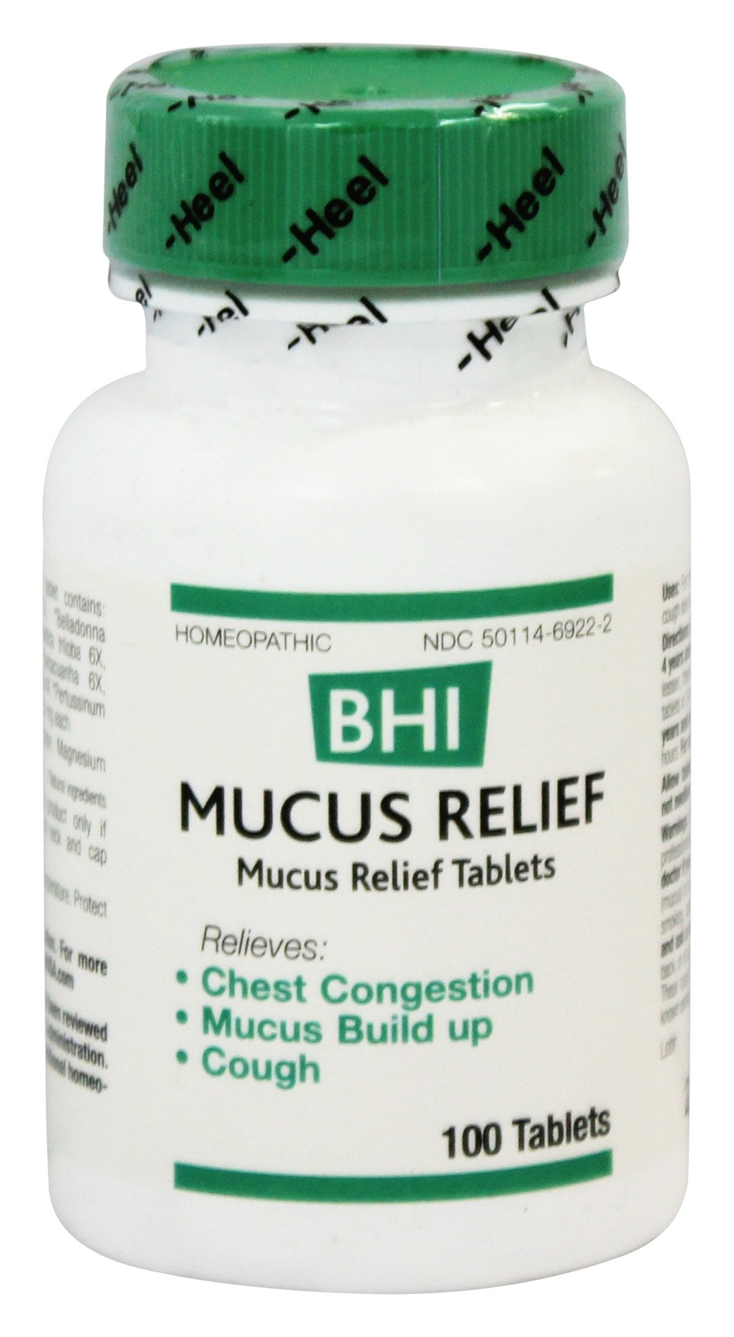 BHI/Heel - Mucus Relief - 100 Tablets Formerly Bronchitis