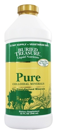 Buried Treasure Products - Liquid Plant Derived Colloidal Minerals Pure - 32 oz.