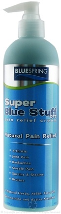 DROPPED: Blue Spring International - Super Blue Stuff Pain Relief Cream Maximum Strength - 12 oz.