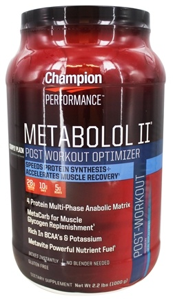 DROPPED: Champion Performance - Metabolol II Post-Workout Optimizer Simply Plain - 2.2 lbs.