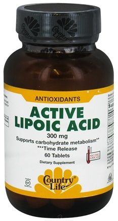 DROPPED: BioChem by Country Life - Active Lipoic Acid Time Release 300 mg. - 60 Tablets Formerly Biochem