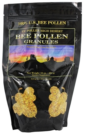 CC Pollen - High Desert Bee Pollen Granules Bag - 1 lb.