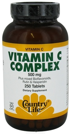 DROPPED: Country Life - Vitamin C Complex 500 mg. - 250 Tablets
