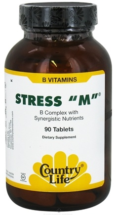 DROPPED: Country Life - Stress M B Complex With Synergistic Nutrients - 90 Tablets