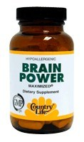 DROPPED: Country Life - Brain Power Maximized - 60 Tablets