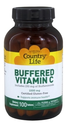 Country Life - Buffered Vitamin C 1000 mg. - 100 Tablets