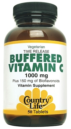 DROPPED: Country Life - Buffered Vitamin C Time Release 1000 mg. - 50 Tablets