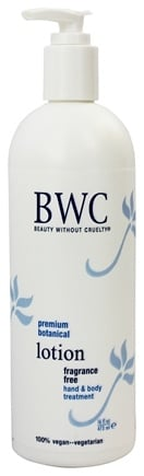 Beauty Without Cruelty - Lotion Hand & Body Treatment Fragrance Free - 16 oz.